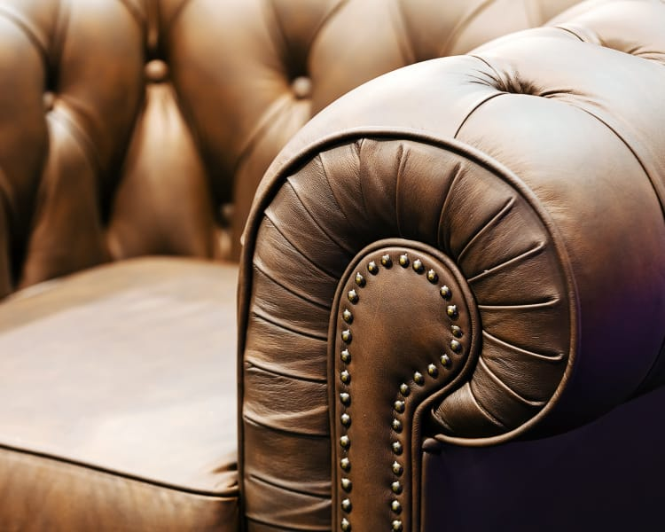 Nice leather chair at The Jane at Moore's Lake in Chester, Virginia