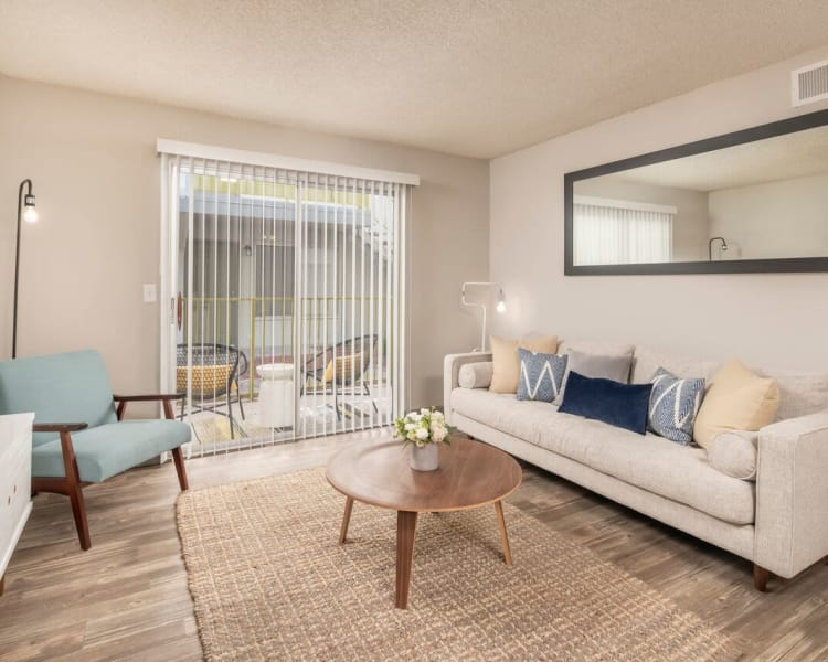 Our beautiful apartments in Tucson, Arizona showcase a living room