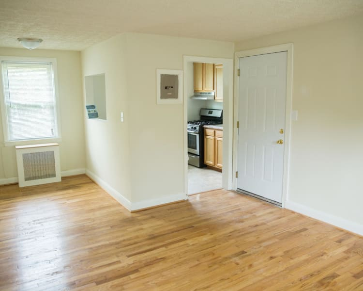 Beautiful hardwood floors at Ivy Crossing at Catonsville in Catonsville, Maryland