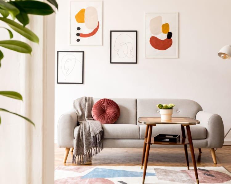 Wonderful living room art at Fairbrooke Senior Apartments in Aberdeen, Maryland