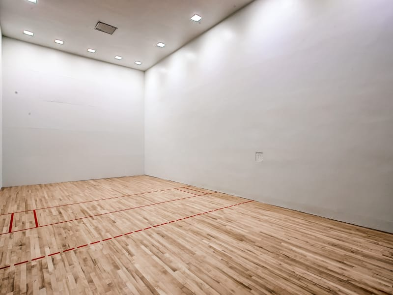 Racquetball court at 3300 Tamarac in Denver, Colorado