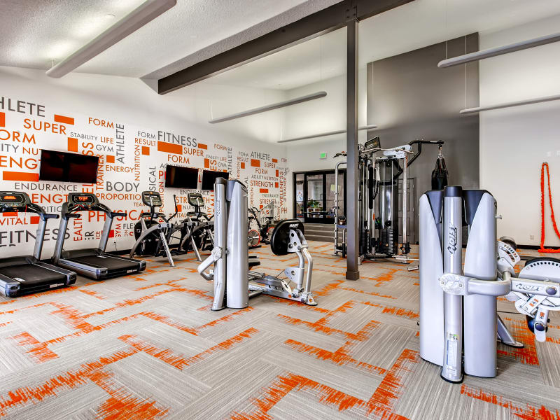 State-of-the-art fitness center at 3300 Tamarac in Denver