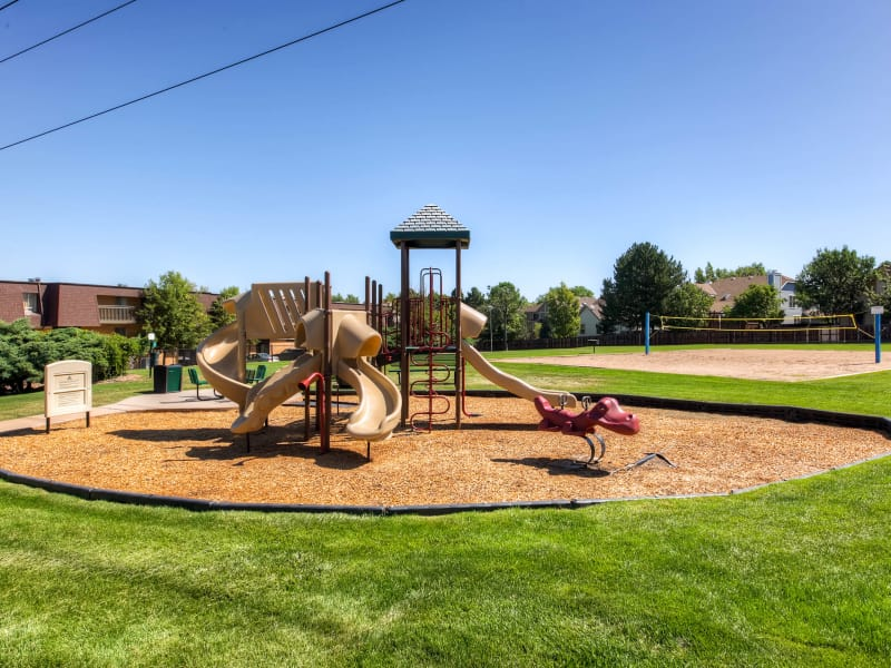 Playground area at 3300 Tamarac in Denver, Colorado