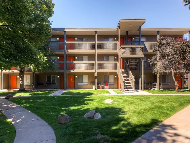 Exterior view of units at 3300 Tamarac in Denver, Colorado