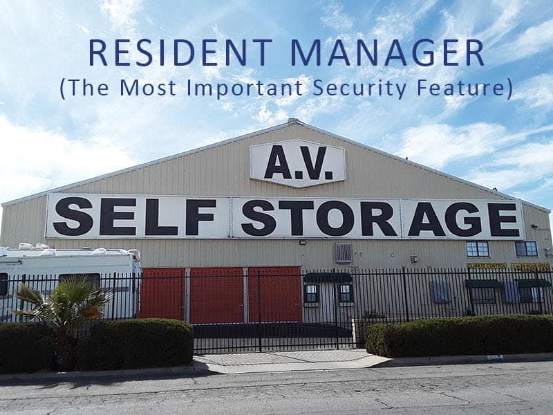 Front view of AV Self Storage in Palmdale, CA