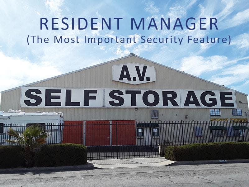 Front view of AV Self Storage in Palmdale, CA