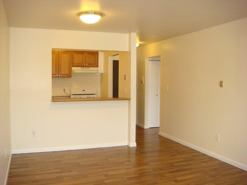 Spacious living area at Ellsworth Apartments in Bridgeport, Connecticut