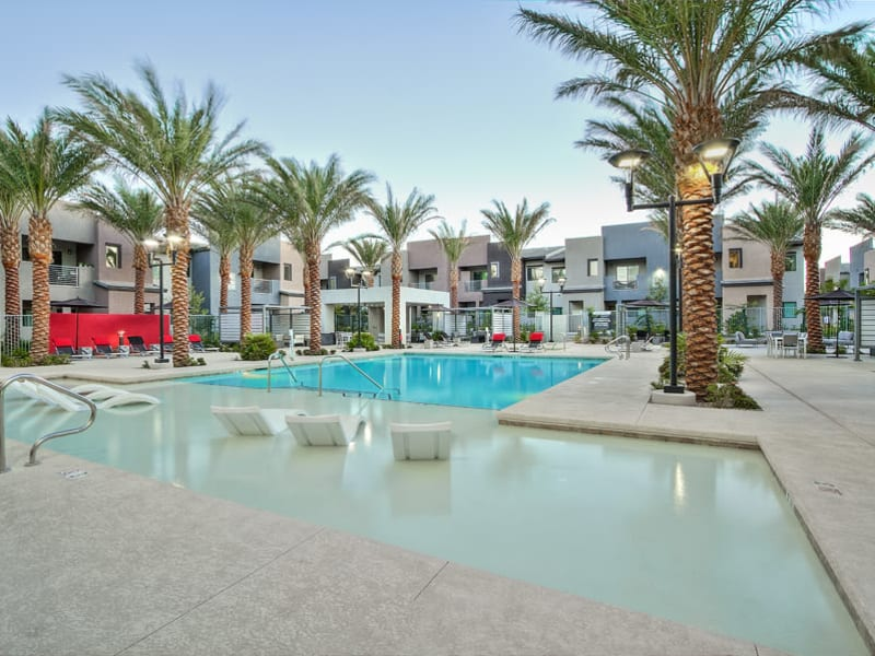 Resort-style swimming Pool at Empire | Apartments in Henderson, NV