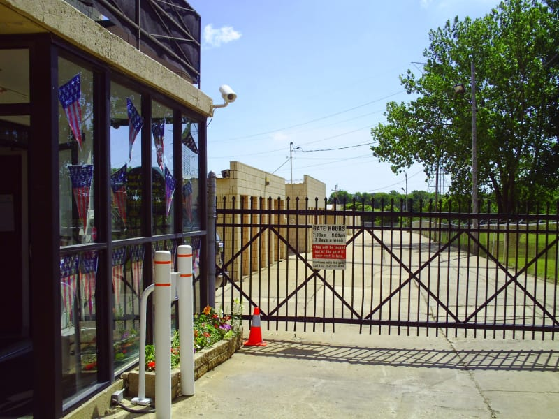 Gated entry to Barth Storage - 60th Ave in Kenosha, Wisconsin