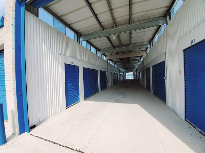 Large drive-in space and climate controlled units at Barth Storage - Green Bay Rd in Kenosha, Wisconsin