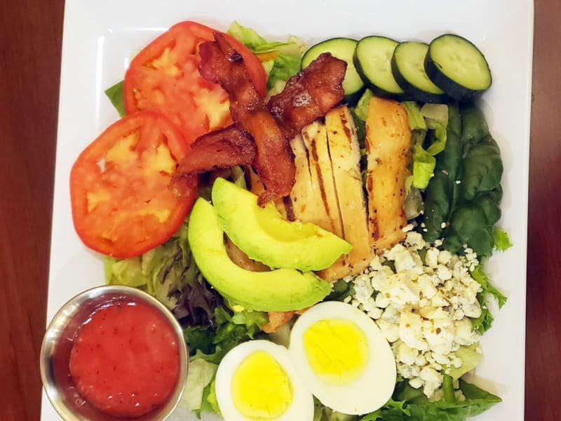 Cobb salad at Heron Pointe Senior Living