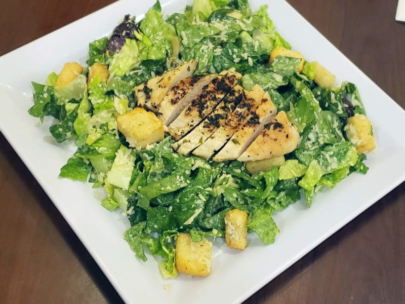 Grilled chicken Caesar salad at Heron Pointe Senior Living