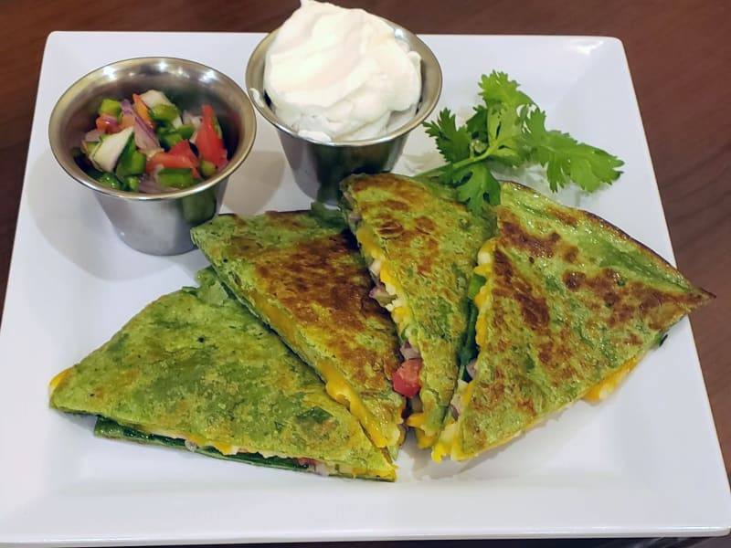 Spinach quesadillas at Heron Pointe Senior Living