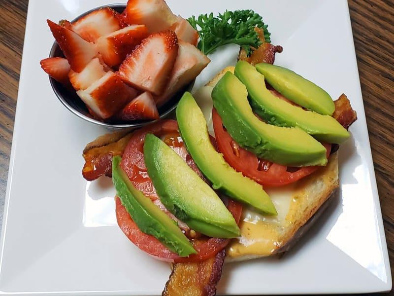 Avocado toast at Maple Ridge Senior Living