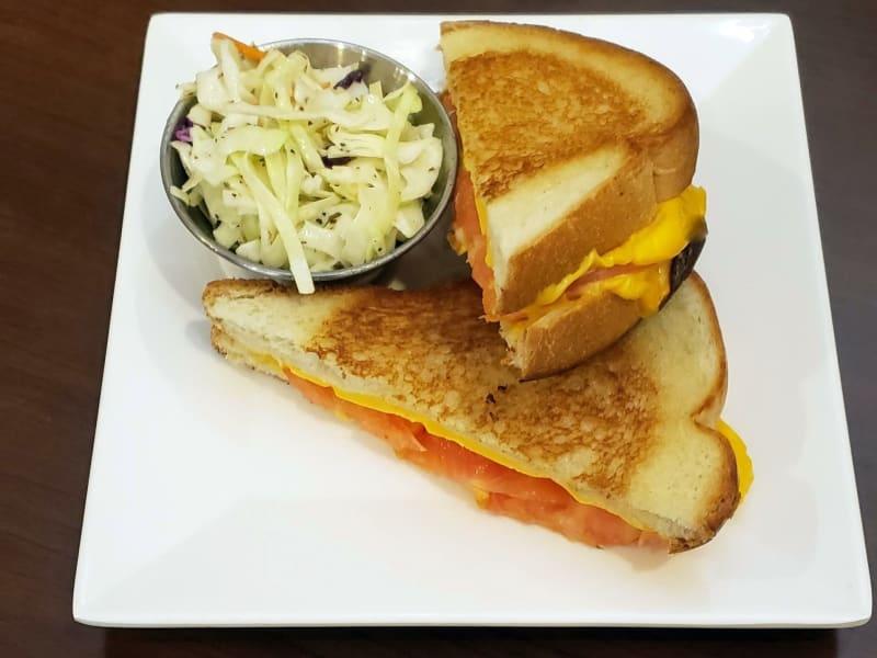 Grilled cheese tomato sandwich at Maple Ridge Senior Living