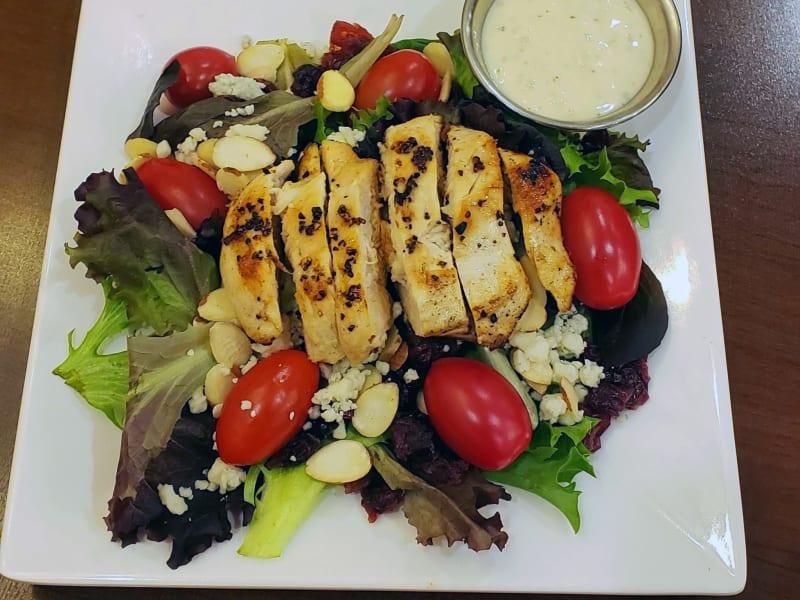Almond chicken salad at Maple Ridge Senior Living