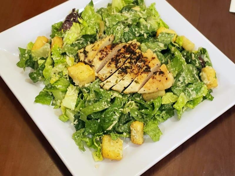 Grilled chicken Caesar salad at Maple Ridge Senior Living