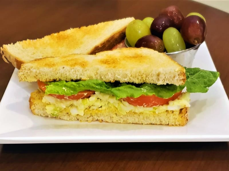 Egg salad sandwich at Lakeland Senior Living