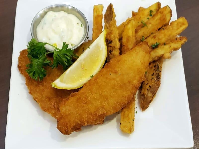 Fish and chips at Lakeland Senior Living