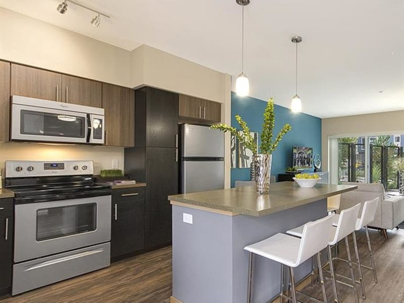 Kitchen at Trillium Apartments in Edmonds, Washington