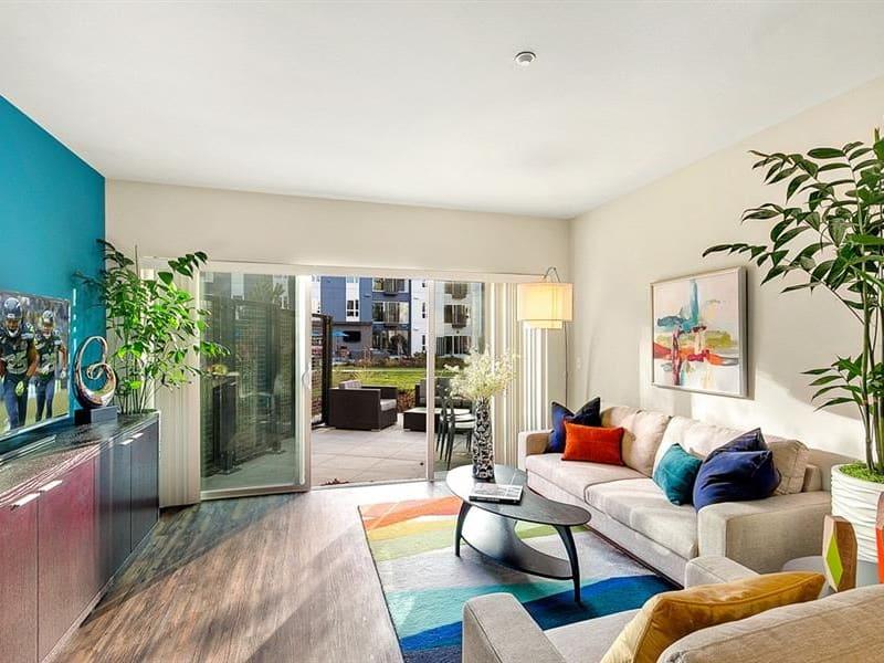 Living area  at Trillium Apartments in Edmonds, Washington