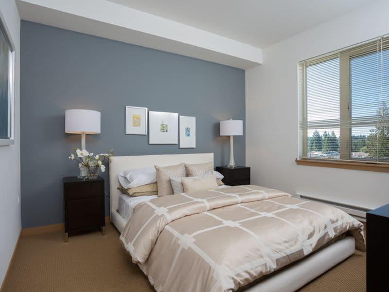 Bedroom at Trillium Apartments in Edmonds, Washington