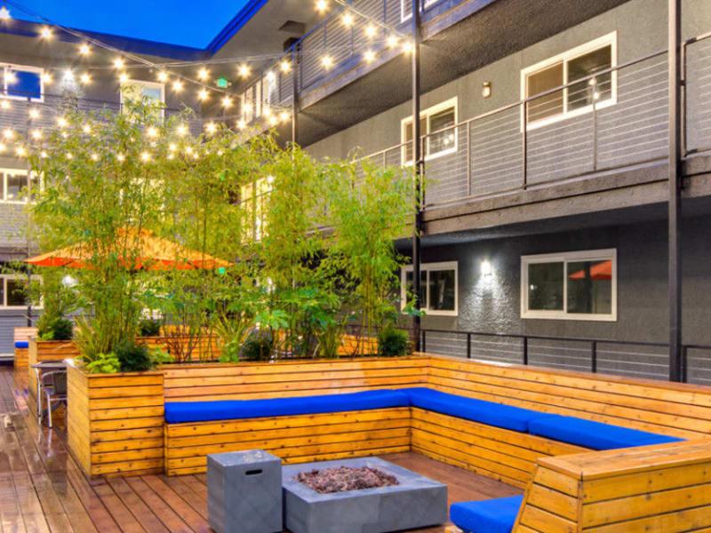 Lounge area at Union 18 in Seattle, Washington
