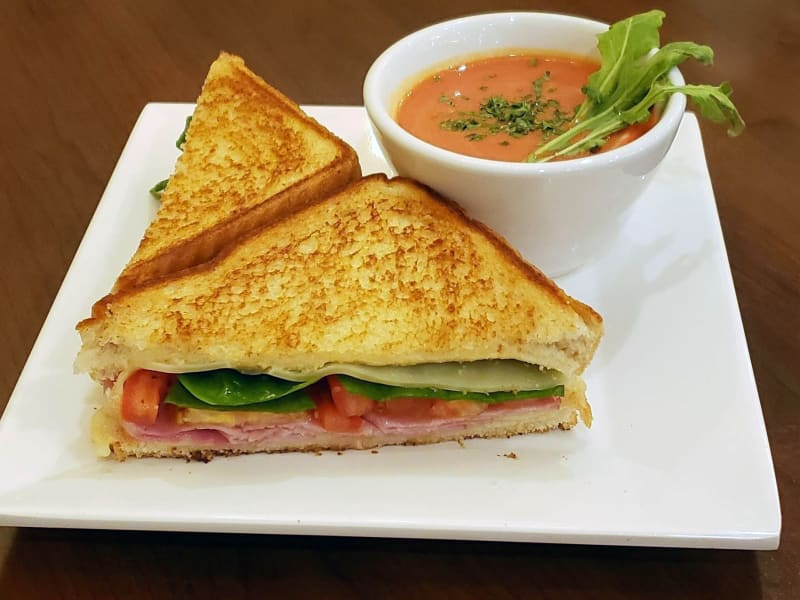 Grilled Ham and Swiss Sandwich at Meadowlark Senior Living Dining