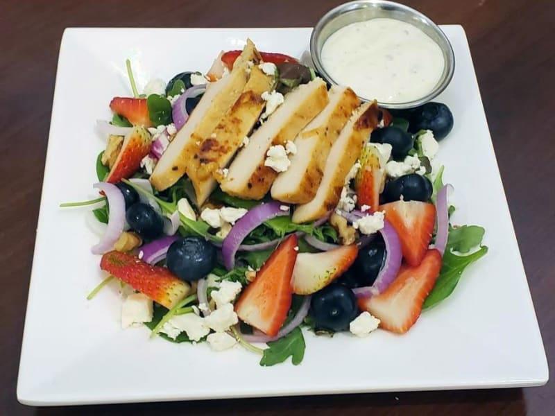 Berry Chicken Salad at Heron Pointe Senior Living Dining