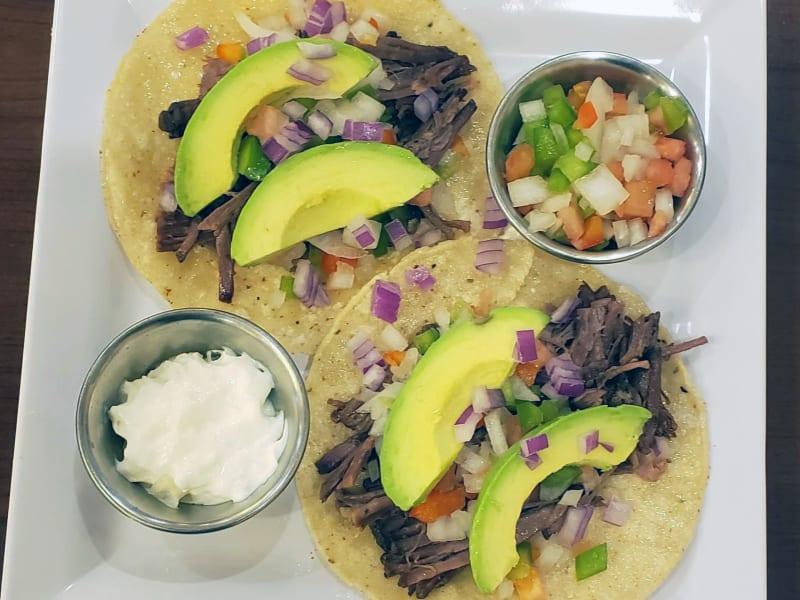 Brisket Tacos at Heron Pointe Senior Living Dining