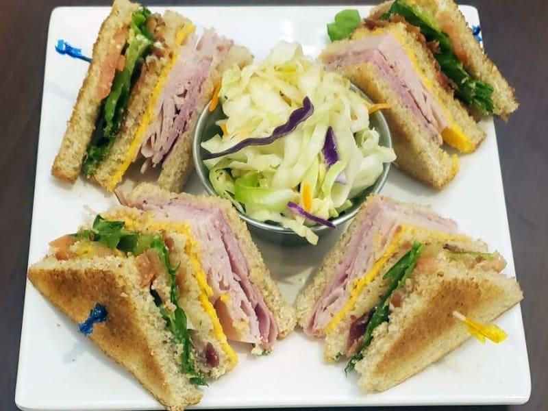 Club Sandwich at Heron Pointe Senior Living Dining