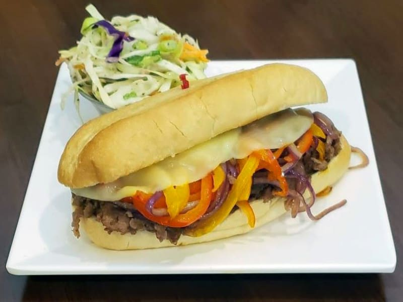 Philly Cheese Steak Sandwich at Heron Pointe Senior Living Dining