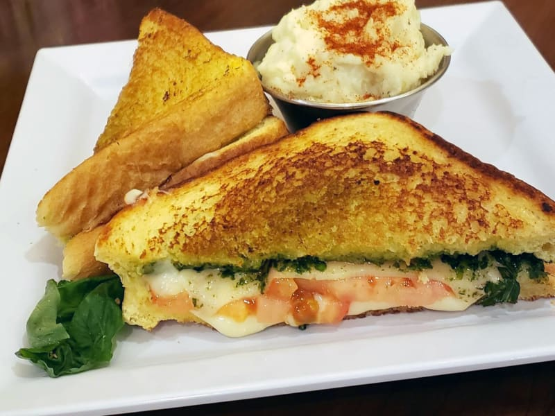 Pesto Grilled Cheese Sandwich at Heron Pointe Senior Living Dining
