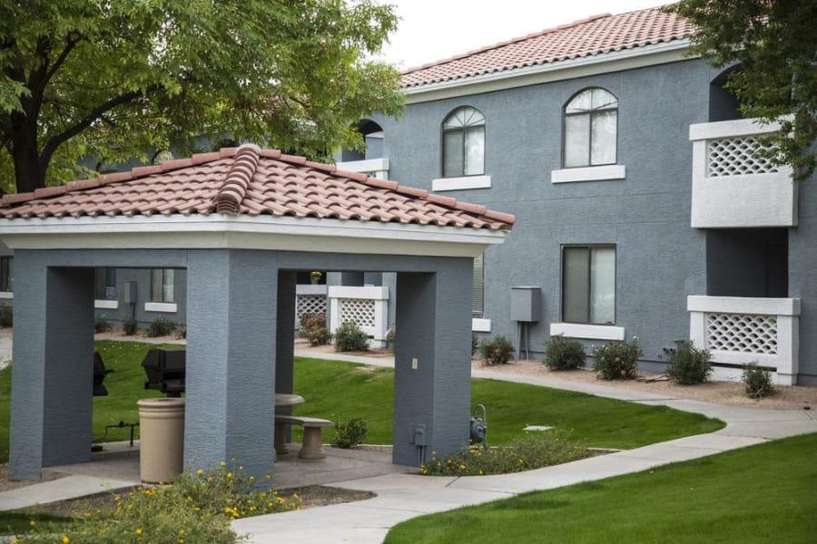 Patio at San Valiente Luxury Apartment Homes in Phoenix, AZ
