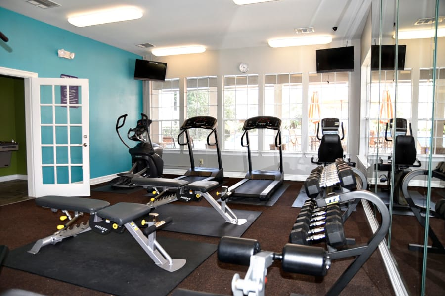 View of fitness center equipment at The Club at Stablechase