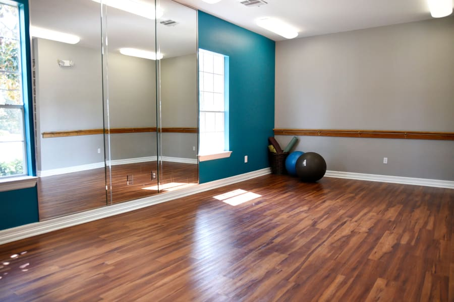 On-site yoga center at The Club at Stablechase