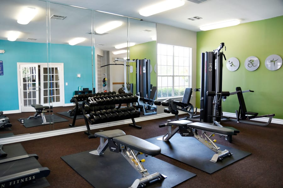 Interior fitness center from another angle at The Club at Stablechase