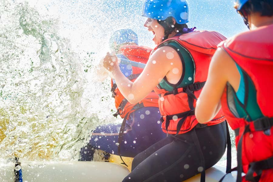 Rafting near Redlands Lawn and Tennis Club in Redlands