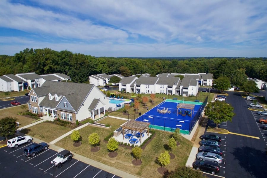 Closer aerial view of The Residences of Westover Hills in Richmond, VA