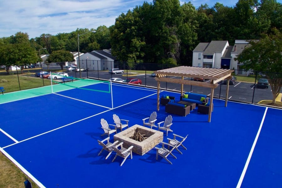 Fire pit, volleyball court, and more at The Residences of Westover Hills in Richmond, VA