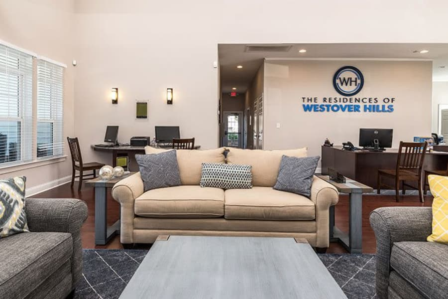 Interior clubhouse view at The Residences of Westover Hills in Richmond, VA