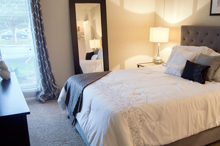 Spacious and bright bedroom in model home at The Residences of Westover Hills in Richmond, VA