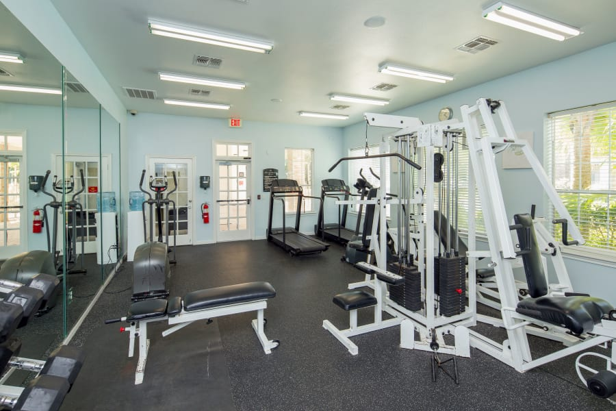 fitness center at Veranda in Texas City, Texas