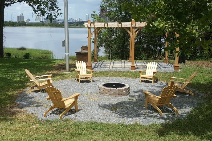 Fire pit at Pier 5350 in Jacksonville, Florida
