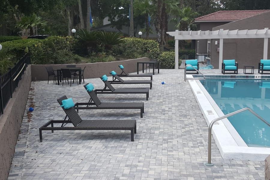 Swimming pool at Pier 5350 in Jacksonville, Florida