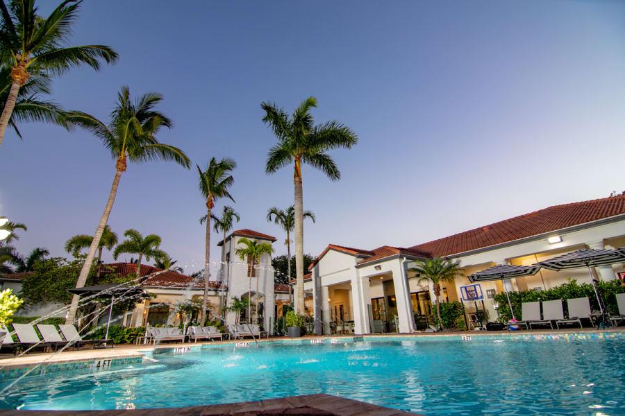 Outdoor Pool at The Sophia at Abacoa in Jupiter, Florida