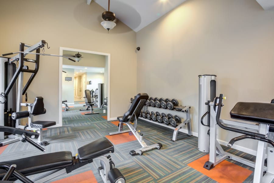 Fitness center at Renaissance Apartment Homes
