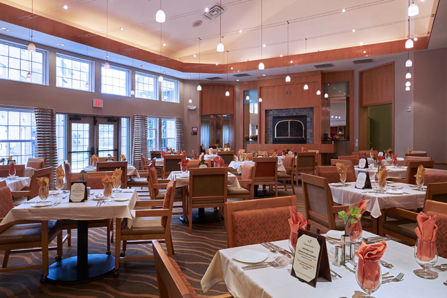 One of the many dining rooms at All Seasons Ann Arbor in Ann Arbor, Michigan