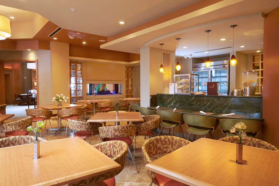 The Bistro dining area at All Seasons Oro Valley in Oro Valley, Arizona