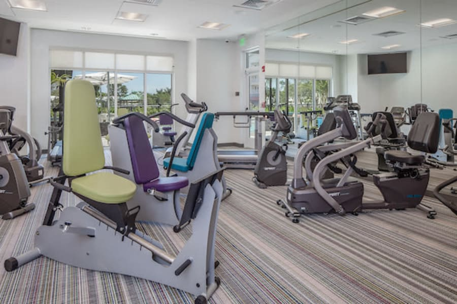 Well-equipped fitness center at All Seasons Oro Valley in Oro Valley, Arizona